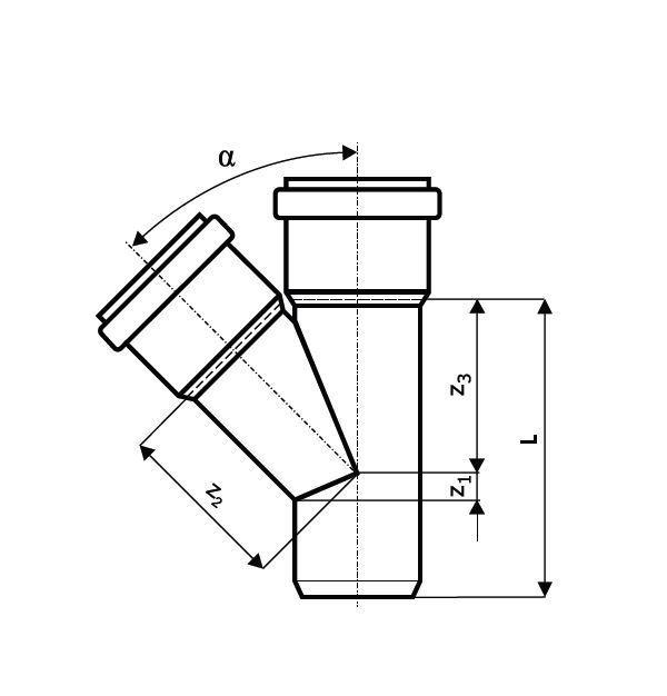 kg sn 4 abzweig dn 200 mg handels company. Black Bedroom Furniture Sets. Home Design Ideas